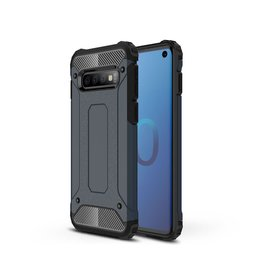Lunso Lunso - Armor Guard hoes - Samsung Galaxy S10 - Donkerblauw