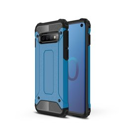 Lunso Lunso - Armor Guard hoes - Samsung Galaxy S10 - Lichtblauw