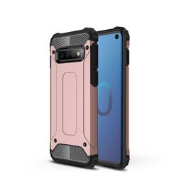 Lunso Lunso - Armor Guard hoes - Samsung Galaxy S10 - Rosé goud