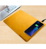iKaku Wireless fast charger muismat (10W) cognac