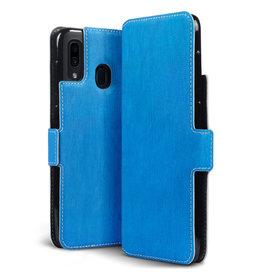 Qubits Qubits - slim wallet hoes - Samsung Galaxy A30 - Lichtblauw
