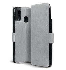 Qubits Qubits - slim wallet hoes - Samsung Galaxy A30 - Grijs