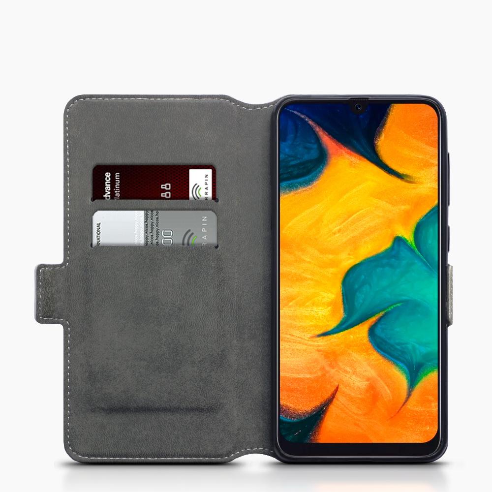 Qubits Slim wallet grijs hoes voor de Samsung Galaxy A30