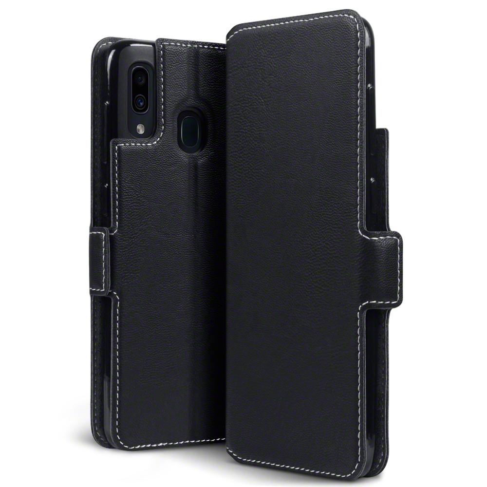Qubits Slim wallet zwart hoes voor de Samsung Galaxy A30