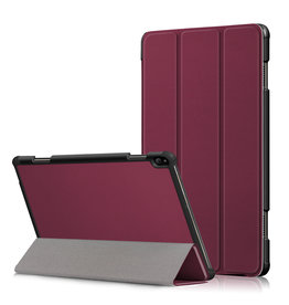 Lunso 3-Vouw sleepcover hoes - Lenovo Tab P10 - Bordeaux Rood