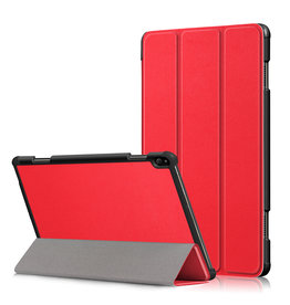 Lunso 3-Vouw sleepcover hoes - Lenovo Tab P10 - Rood