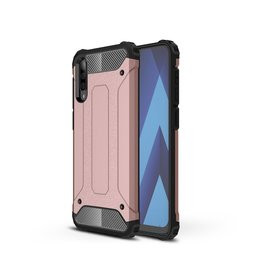 Lunso Lunso - Armor Guard hoes - Samsung Galaxy A50 - Rose Goud