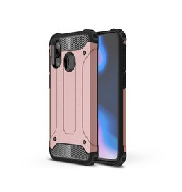 Lunso Lunso - Armor Guard hoes - Samsung Galaxy A40 - Rose Goud