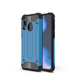 Lunso Lunso - Armor Guard hoes - Samsung Galaxy A40 - Lichtblauw