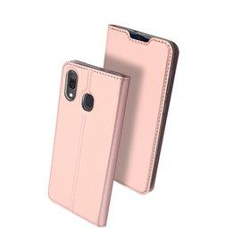 Dux Ducis Dux Ducis - pro serie slim wallet hoes - Samsung Galaxy A30 - Rose Goud
