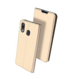 Dux Ducis Dux Ducis - pro serie slim wallet hoes - Samsung Galaxy A30 - Goud