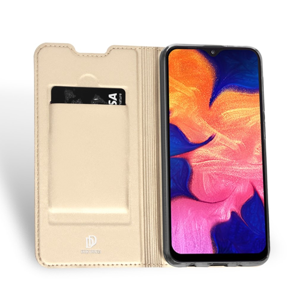 Dux Ducis Dux Ducis pro serie slim wallet Goud hoes voor de Samsung Galaxy A10