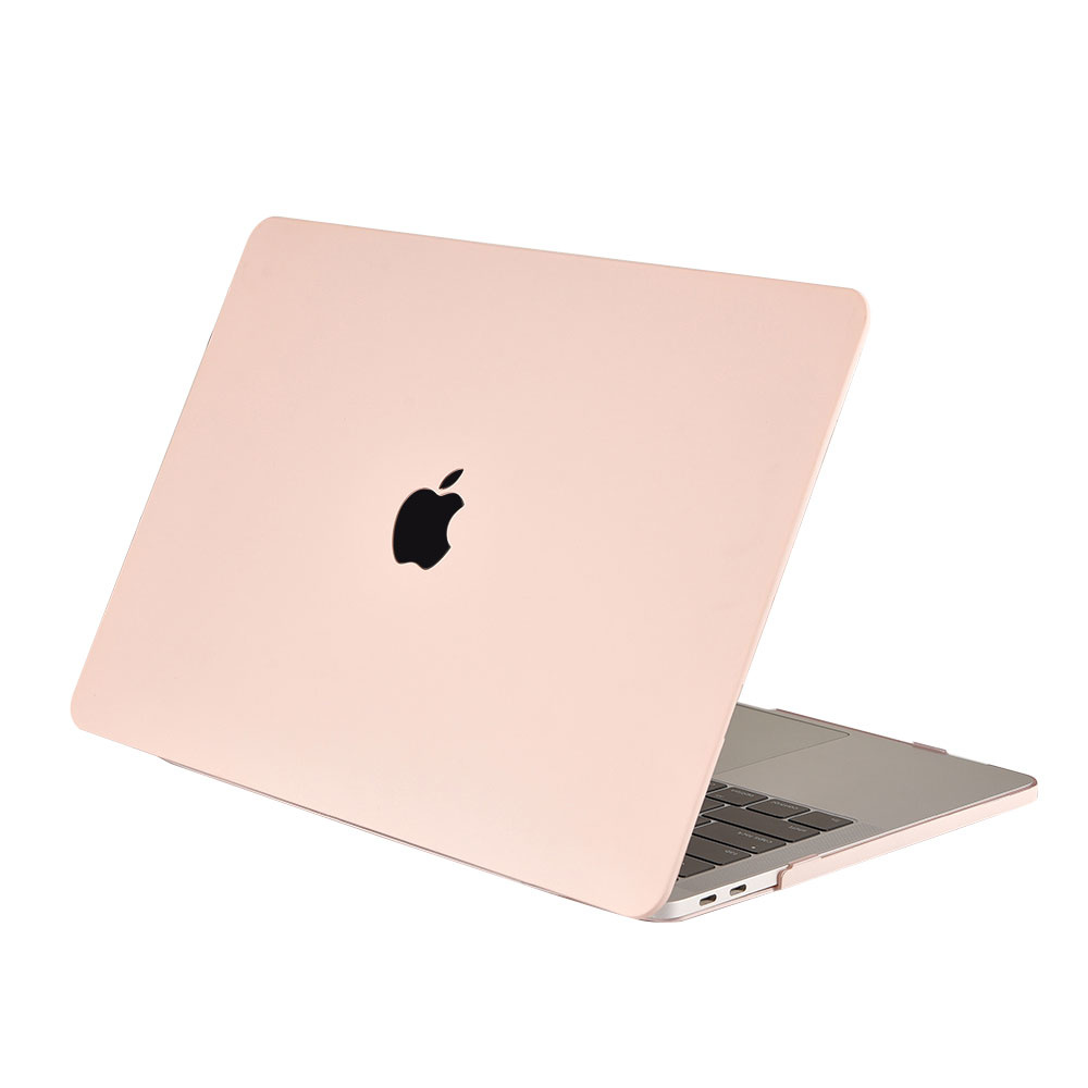 Lunso Cover hoes Candy Pink voor de MacBook Air 13 inch (2018)