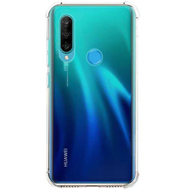 Schokbestendige softcase hoes - Huawei P30 Lite - Transparant