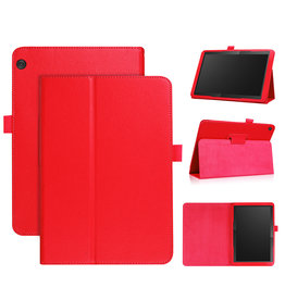 Stand flip sleepcover hoes - Lenovo Tab M10 - Rood