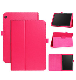 Stand flip sleepcover hoes - Lenovo Tab M10 - Roze