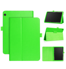 Stand flip sleepcover hoes - Lenovo Tab M10 - Groen
