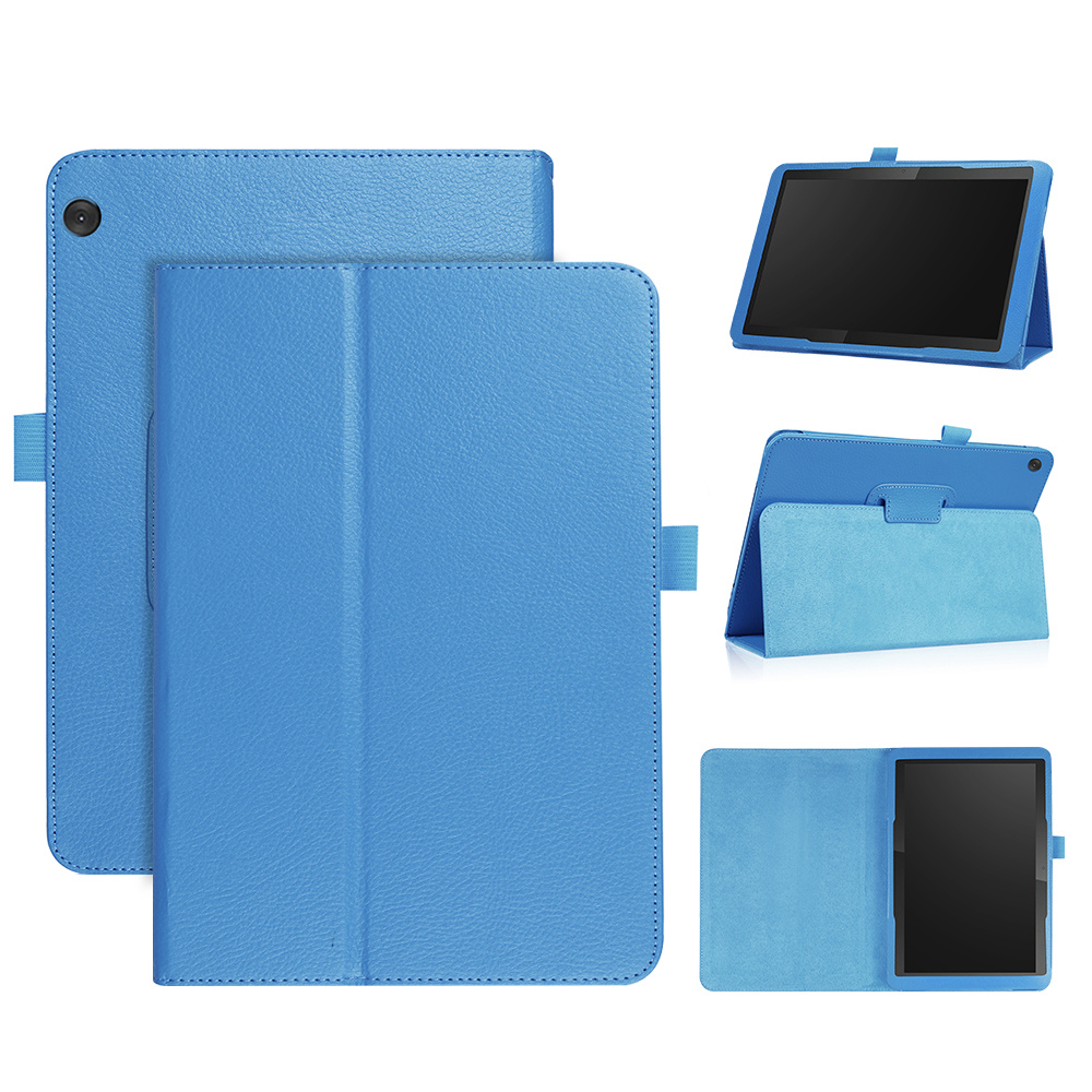 Stand flip hoes Lichtblauw voor de Lenovo Tab M10