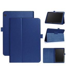 Lunso Stand flip sleepcover hoes - Lenovo Tab M10 - Blauw