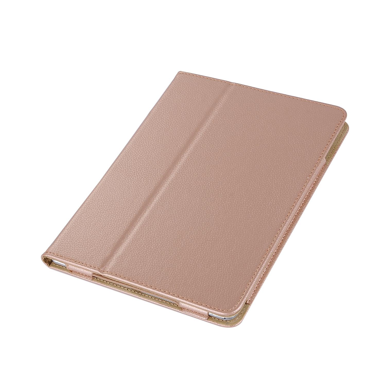 Lunso Stand flip sleepcover hoes Goud voor de iPad 9.7 (2017/2018), iPad Pro 9.7, iPad Air en iPad Air 2