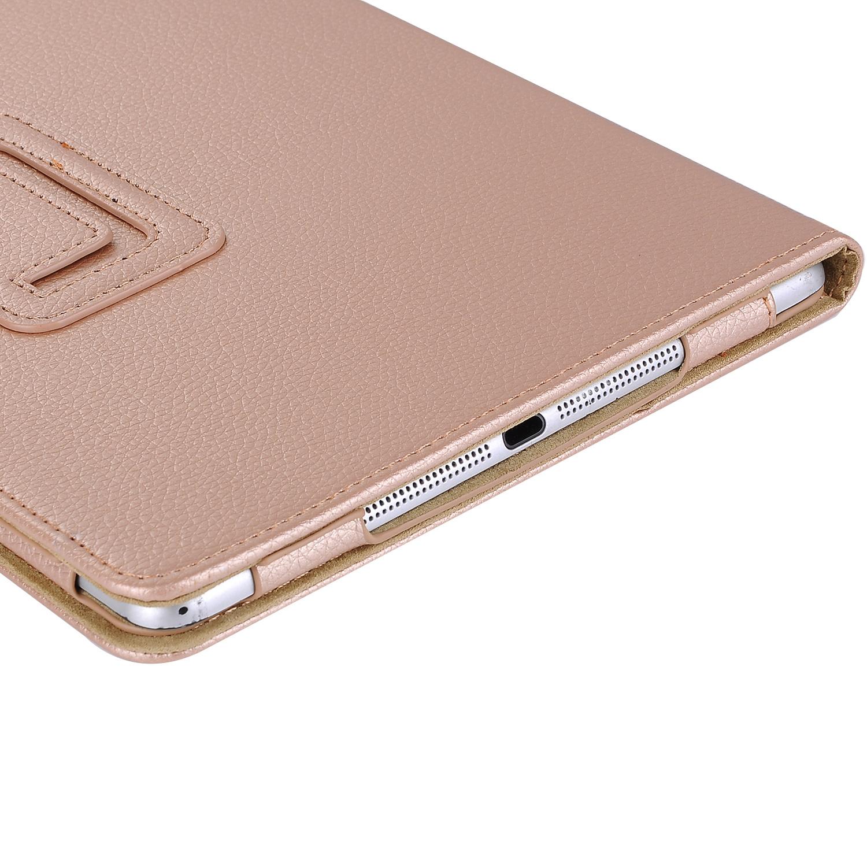 Stand flip sleepcover hoes Goud voor de iPad 9.7 (2017/2018), iPad Pro 9.7, iPad Air en iPad Air 2
