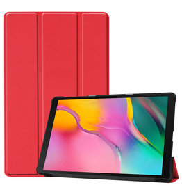 Lunso 3-Vouw cover hoes - Samsung Galaxy Tab A 10.1 inch (2019) - Rood
