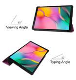3-Vouw cover hoes Paars voor de Samsung Galaxy Tab A 10.1 inch (2019)