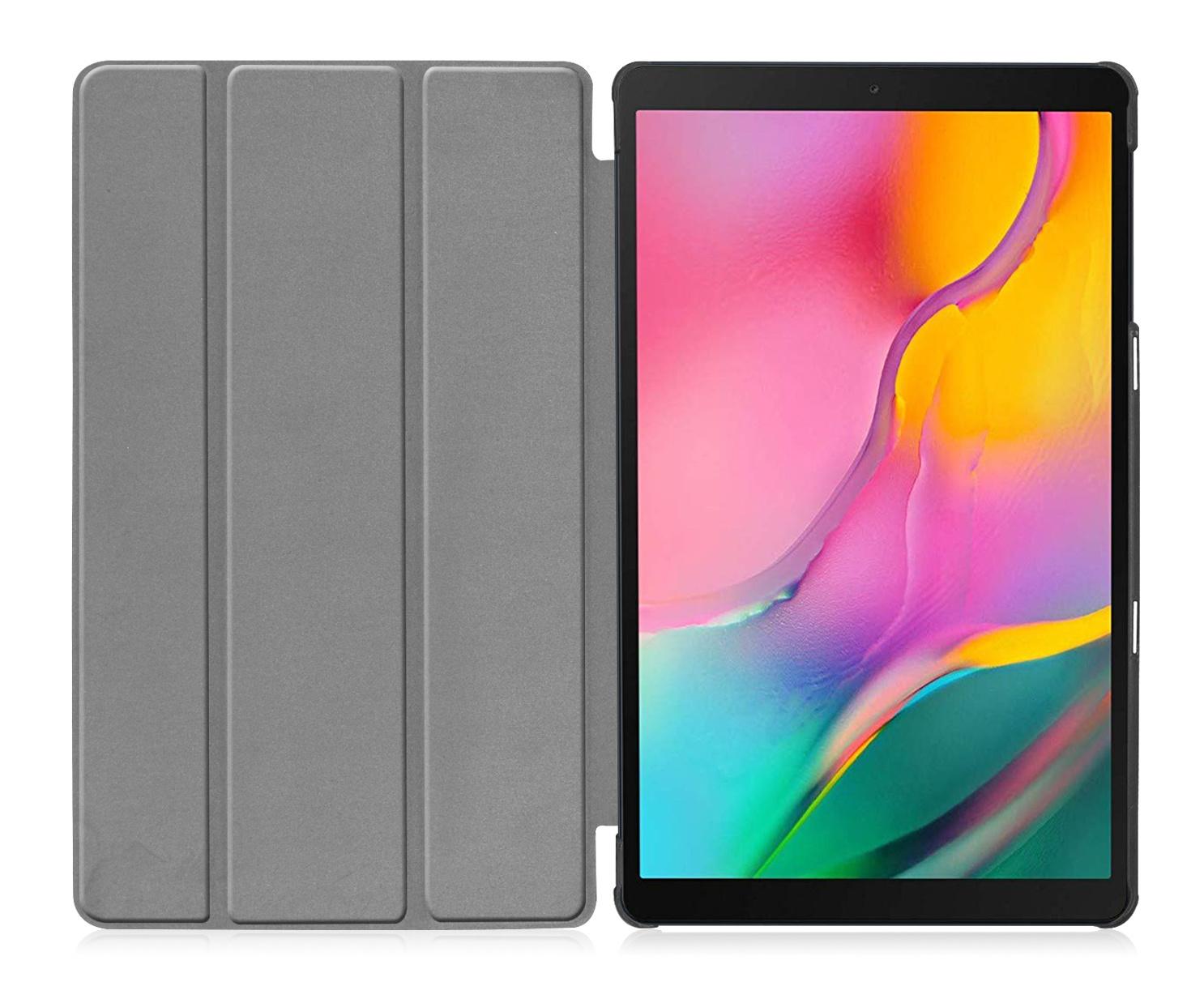 3-Vouw cover hoes Grijs voor de Samsung Galaxy Tab A 10.1 inch (2019)