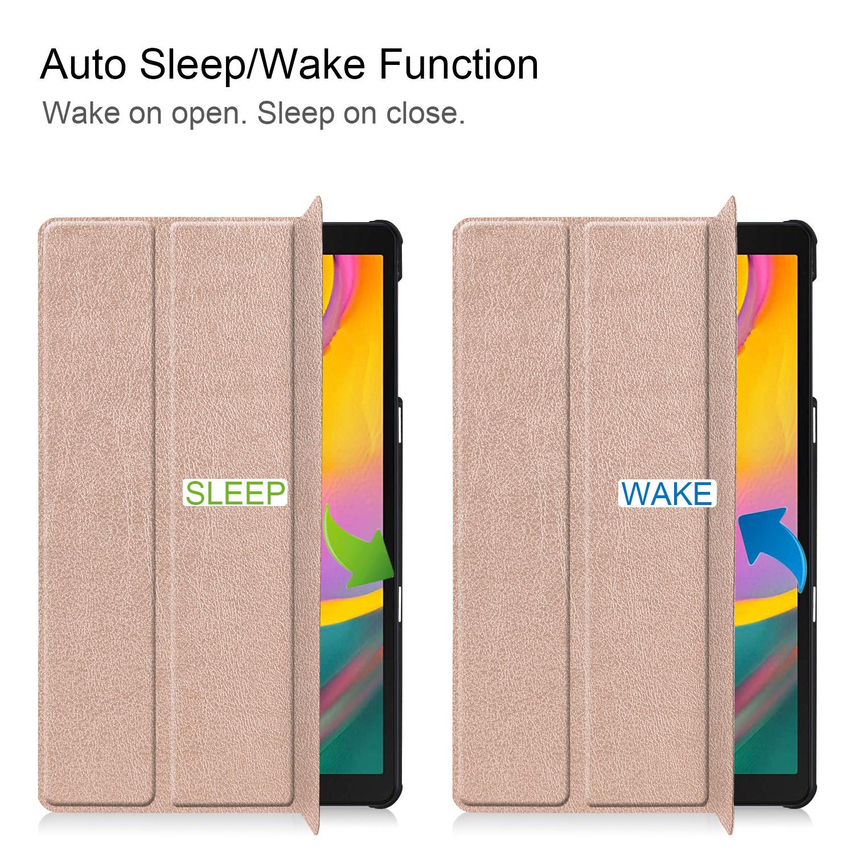 3-Vouw sleepcover hoes Rose Goud voor de Samsung Galaxy Tab S5e 10.5 inch