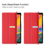 3-Vouw sleepcover hoes Rood voor de Samsung Galaxy Tab S5e 10.5 inch