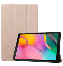 3-Vouw sleepcover hoes - Samsung Galaxy Tab S5e 10.5 inch - Goud