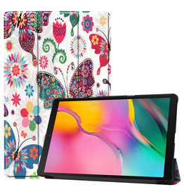 3-Vouw sleepcover hoes - Samsung Galaxy Tab S5e 10.5 inch- Vlinders