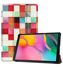 3-Vouw sleepcover hoes - Samsung Galaxy Tab A 10.1 inch (2019) - Blokken