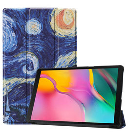 3-Vouw cover hoes - Samsung Galaxy Tab A 10.1 inch (2019) - Van Gogh Schilderij