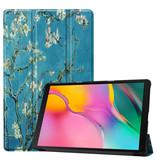 3-Vouw cover hoes Van Gogh Amandelboom  voor de Samsung Galaxy Tab A 10.1 inch  - Copy