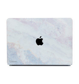 Lunso Lunso - cover hoes - MacBook Air 13 inch (2018-2020) - Marble Brees