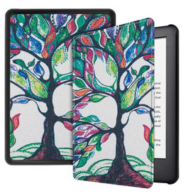 Lunso Lunso - sleepcover hoes - Kindle 2019 (Generatie 10) - Kleurrijke boom