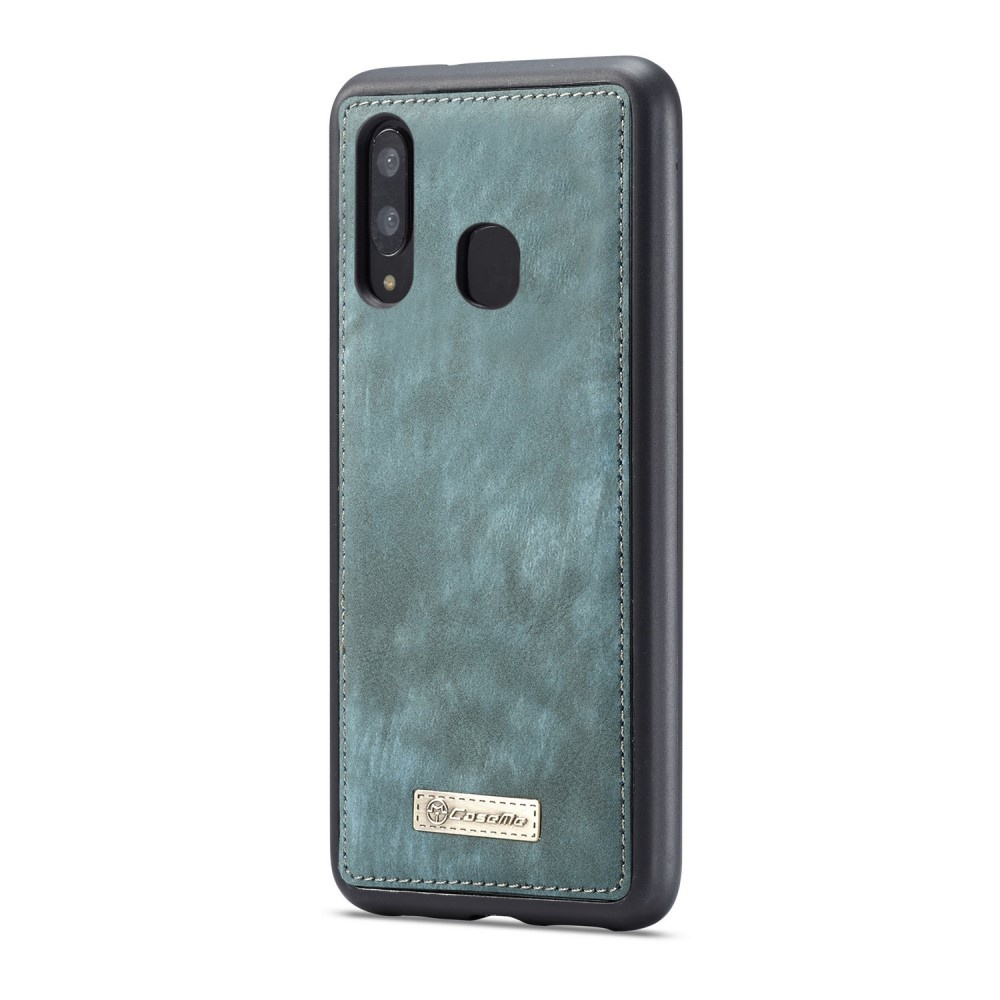 Caseme Vintage 2 in 1 portemonnee hoes Blauw voor de Samsung Galaxy A30 / A20