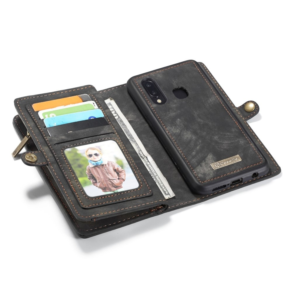 Caseme Vintage 2 in 1 portemonnee hoes zwart voor de Samsung Galaxy A30 / A20
