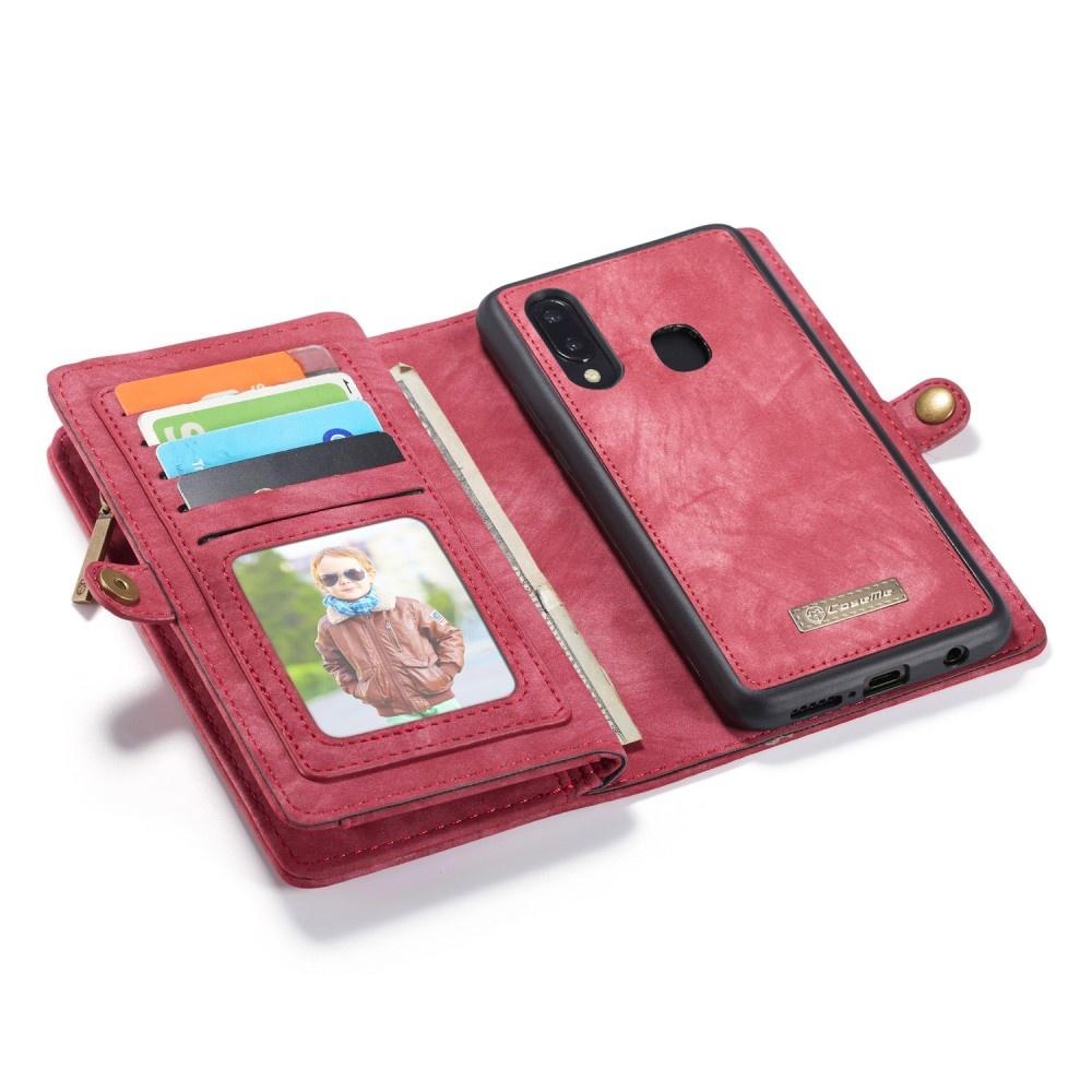Caseme Vintage 2 in 1 portemonnee hoes rood voor de Samsung Galaxy A30 / A20
