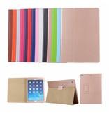 Stand flip sleepcover hoes Oranje voor de iPad 9.7 (2017/2018), iPad Pro 9.7, iPad Air en iPad Air 2