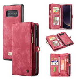 Caseme Caseme - vintage 2 in 1 portemonnee hoes - Samsung Galaxy S10e - Rood