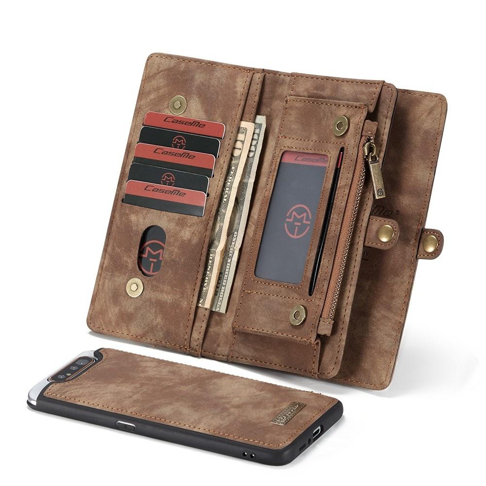 Caseme Vintage 2 in 1 portemonnee hoes Bruin voor de Samsung Galaxy A80
