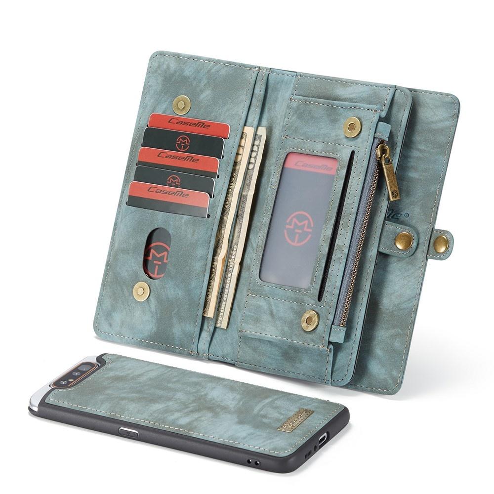 Caseme Vintage 2 in 1 portemonnee hoes Blauw voor de Samsung Galaxy A80