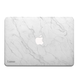 Lunso Lunso - cover hoes - MacBook Air 13 inch (2012-2017) - Marble Isla