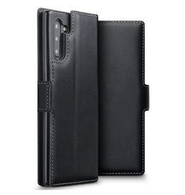Qubits Qubits - lederen slim folio wallet hoes - Samsung Galaxy Note 10 - Zwart