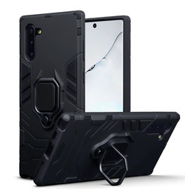 Qubits Qubits - Double Armor Layer hoes met stand - Samsung Galaxy Note 10 - Zwart