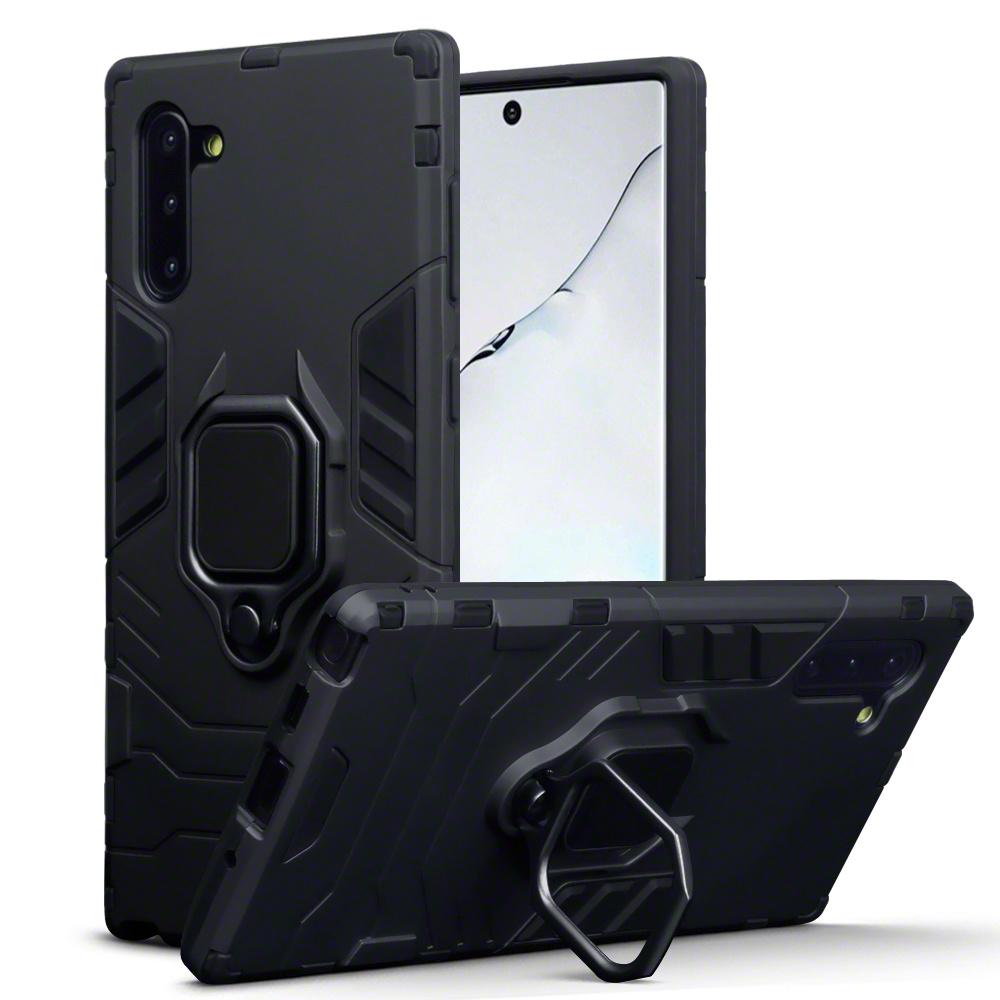Qubits Double Armor Layer hoes zwart met stand voor de Samsung Galaxy Note 10