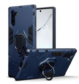 Qubits Qubits - Double Armor Layer hoes met stand - Samsung Galaxy Note 10 - Blauw