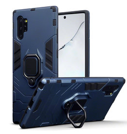 Qubits Qubits - Double Armor Layer hoes met stand - Samsung Galaxy Note 10 Plus - Blauw